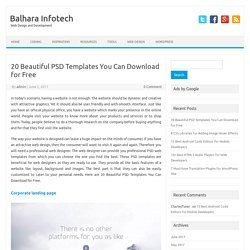 20 Beautiful PSD Templates You Can Download for Free – Balhara Infotech