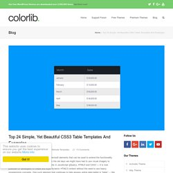 Top 24 Simple, Yet Beautiful CSS3 Table Templates And Examples