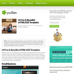 34 Free & Beautiful xHTML/CSS Templates