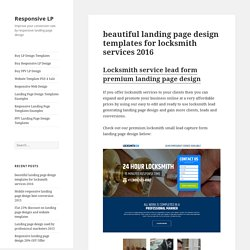 beautiful landing page design templates for locksmith 2016