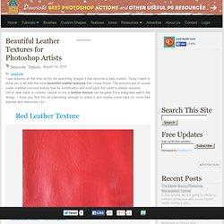 Beautiful Leather Textures for Photoshop Artists