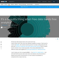 It's a beautiful thing when free data meets free analytics