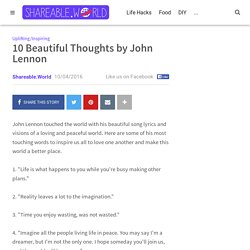10 Beautiful Thoughts by John Lennon