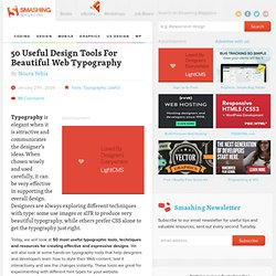 50 Useful Design Tools For Beautiful Web Typography | CSS, Fonts