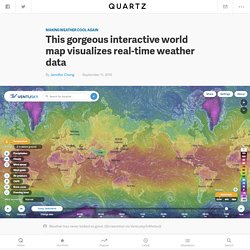 InMeteo's Ventusky map beautiful visualization of real-time global weather — Quartz