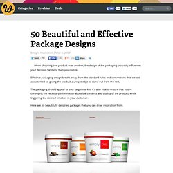 50 Beautiful and Effective Package Designs | Webdesigner Depot - StumbleUpon