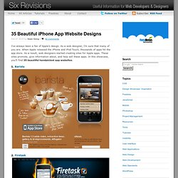 35 Beautiful iPhone App Website Designs