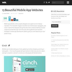 13 Beautiful Mobile App Websites