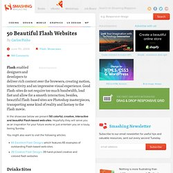 50 Beautiful Flash Websites - Smashing Magazine