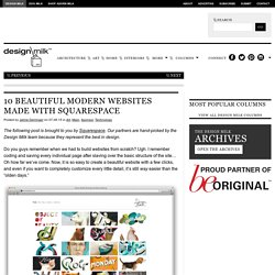 10 Beautiful Modern Websites Made with Squarespace