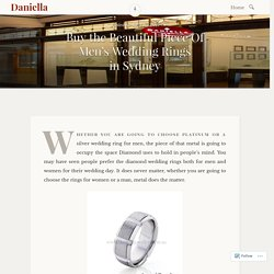 Buy the Beautiful Piece Of Men's Wedding Rings in Sydney