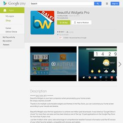 Beautiful Widgets - Apps on Android Market