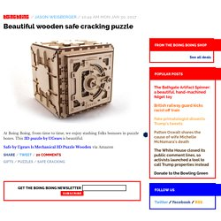 Beautiful wooden safe cracking puzzle / Boing Boing