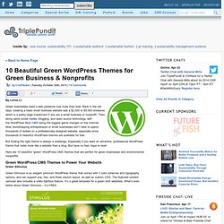 10 Beautiful Green WordPress Themes for Green Business & Nonprofits