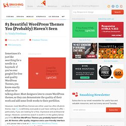 83 Beautiful Wordpress Themes You (Probably) Haven't Seen | Design Showcase | Smashing Magazine