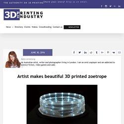 Artist makes beautiful 3D printed zoetrope