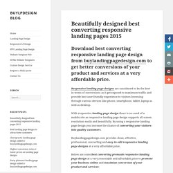 Beautifully designed best converting landing page design 2015