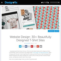 Website Design: 30+ Beautifully Designed T-Shirt Sites