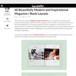 60 Beautifully Modern and Inspirational Magazine / Book Layouts