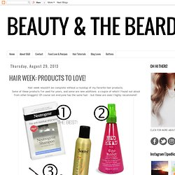 HAIR WEEK: PRODUCTS TO LOVE!
