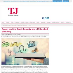 Beauty and the Beast: Bespoke and off-the-shelf elearning