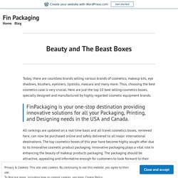 Beauty and The Beast Boxes – Fin Packaging