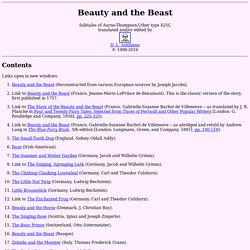 Beauty and the Beast: Folktales of Type 425C