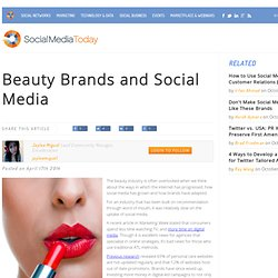 Beauty Brands and Social Media
