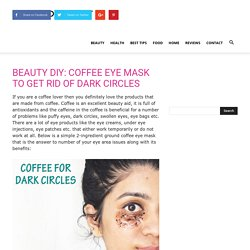 BEAUTY DIY: COFFEE EYE MASK TO GET RID OF DARK CIRCLES