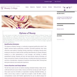 VETfee Help on Beauty Courses