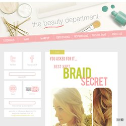The Beauty Department: Your Daily Dose of Pretty. - YOU ASKED FOR IT…