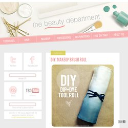DIY: MAKEUP BRUSH ROLL