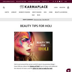 Beauty Health Tip - KarmaPlace Blogs
