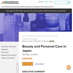 Beauty and Personal Care in Japan