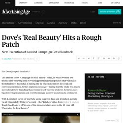 Dove's 'Real Beauty' Hits a Rough Patch
