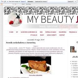 My Beauty Joy: Sernik czekoladowy z żurawiną