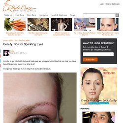 Beauty Tips for Sparkling Eyes