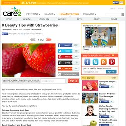 8 Beauty Tips with Strawberries