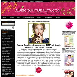 Discount Beauty Supplies and Hair Care Products - American Discount Beauty Supply