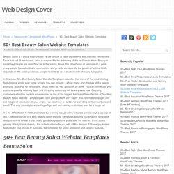 50+ Best Beauty Salon Website Templates - Web Design Cover