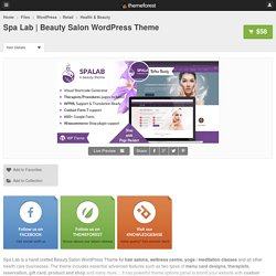 Beauty Salon WordPress Theme - WordPress