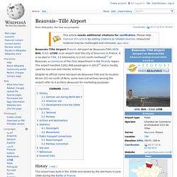 Beauvais–Tillé Airport