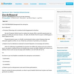 Zoo de Beauval - Dissertation - Sonia Mbala