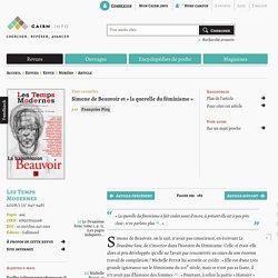 Simone de Beauvoir et «la querelle du féminisme»