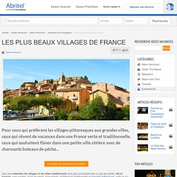 Les plus beaux villages de France - Villages classés