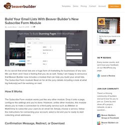 Build Your Email Lists With Beaver Builder's New Subscribe Form Module