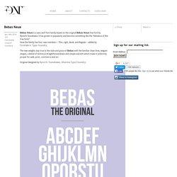 Bebas Neue - Fontfabric™