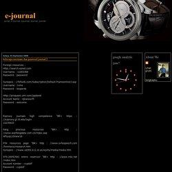 beberapa username dan password journal 2
