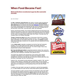 When Food Became Fast! - Restaurants of the 1950's: Fast Food is Born - Fifties Food
