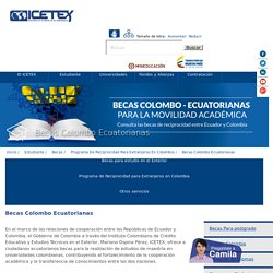 Becas Colombo Ecuatorianas